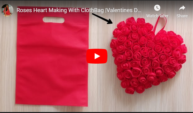Cloth Bag Roses Heart Making